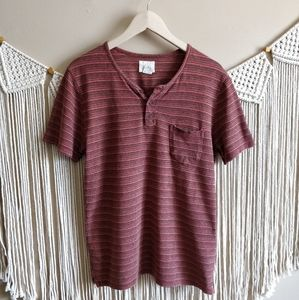 Urban Outfitters Koto Red Orange Stripe Knit Top M